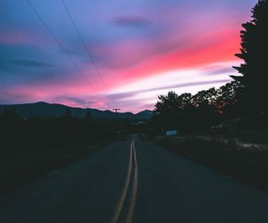 dreamy, road, and sky image