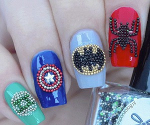 nails, spiderman, and batman image
