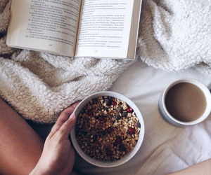 book, breakfast, and cereal image