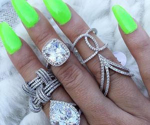 luxury, nails, and rich image