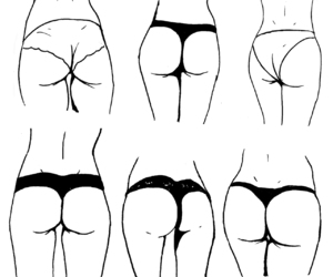 ass, drawing, and girl image