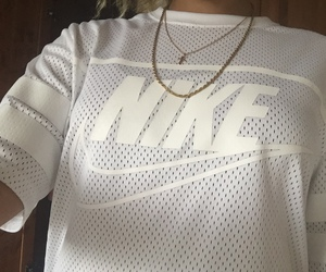 nike, white, and shirt image