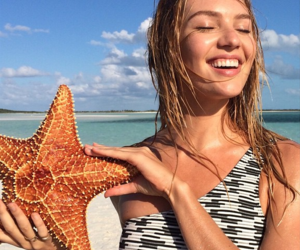 candice swanepoel, model, and beach image