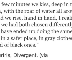 insurgent, divergent, and tris and four image