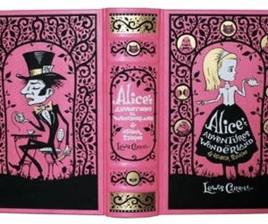 book, pink, and alice in wonderland image