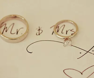love, rings, and wedding image
