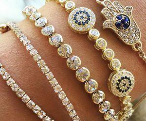 accessory, bangle, and diamond image