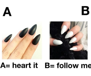 follow, nails, and girls image