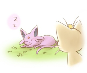 meowth, pokemon, and espeon image