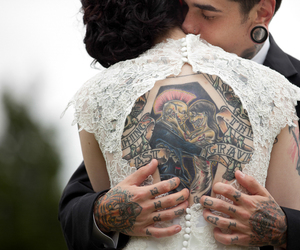 tattoo, love, and wedding image