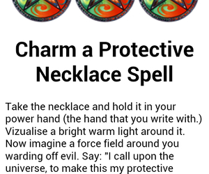 magic, necklace, and spell image
