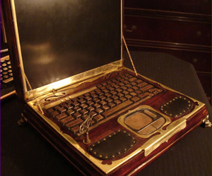 steampunk and laptop image