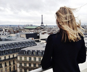 eiffel tower, girl, and france image