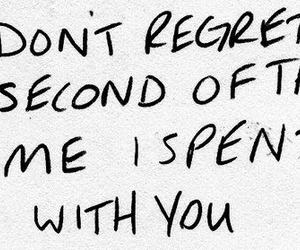 quote, regret, and love image