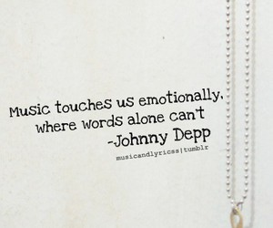 music, johnny depp, and quote image
