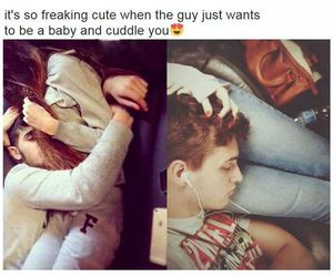 boy, cuddle, and love image