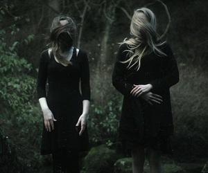 dark, girl, and black image