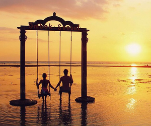 bali, beach, and couple image