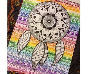 colorful, drawings, and dreamcatcher image