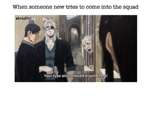 anime, funny, and gangsta image