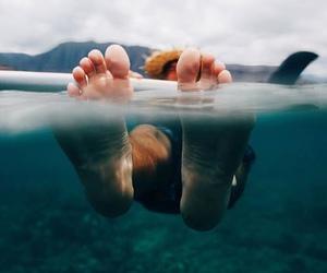 feet, ocean, and summer image