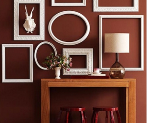 accent wall, frames, and frame wall image