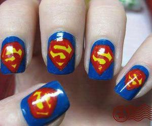 superman, nails, and nail art image