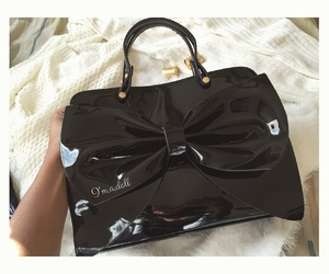 black, bow, and chanel image