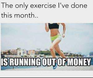 exercise, funny, and money image
