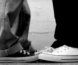 all star, b&w, and couple image
