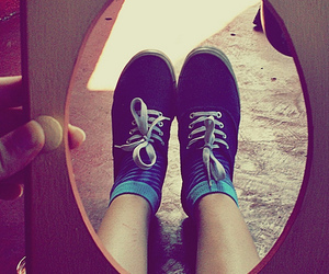 blue, blue shoes, and photography image