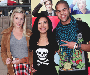 naya rivera, heather morris, and hlee image