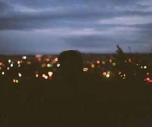 light, vintage, and night image