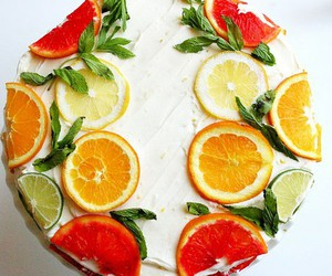 cake and fruite image