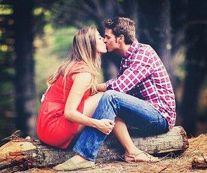 beautiful, couple, and feeling image