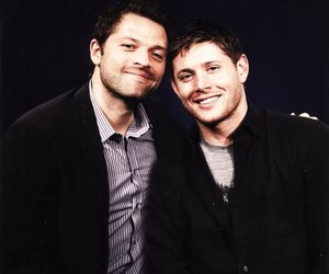 Jensen Ackles, misha collins, and supernatural image