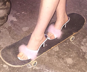 pink, skateboard, and aesthetic image
