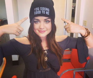 lucy hale, you sound good to me, and pretty little liars image