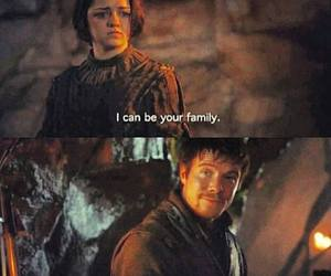 arya stark, game of thrones, and gendry image