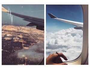 plane, sky, and travel image