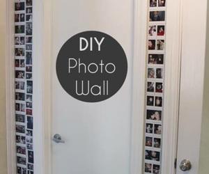 diy, wall, and photo image