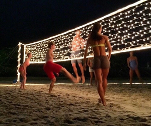 sea, sport, and volleyball image
