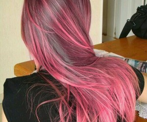 beauty, hair, and pink image