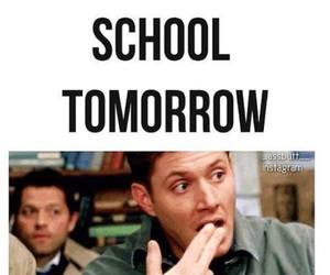 supernatural, school, and funny image