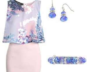ivory, Polyvore, and blue pumps image