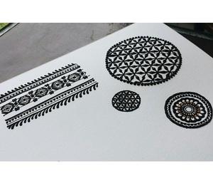 art, black, and design image