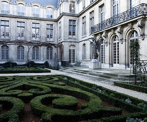 architecture, garden, and paris image