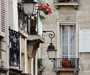 paris, flowers, and street image