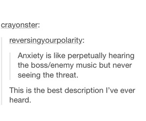 anxiety, funny, and tumblr image