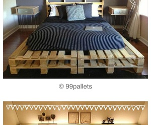 bed, deco, and diy image
